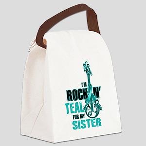 RockinTealFor Sister Canvas Lunch Bag
