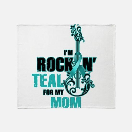 RockinTealFor Mom Throw Blanket