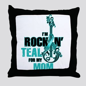 RockinTealFor Mom Throw Pillow