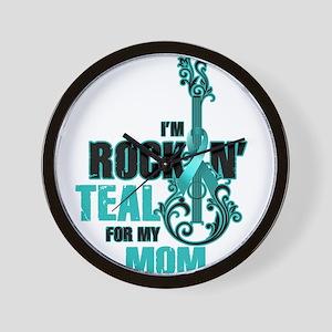 RockinTealFor Mom Wall Clock