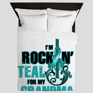 RockinTealFor Grandma Queen Duvet