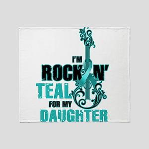 RockinTealFor Daughter Throw Blanket