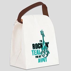 RockinTealFor Aunt Canvas Lunch Bag