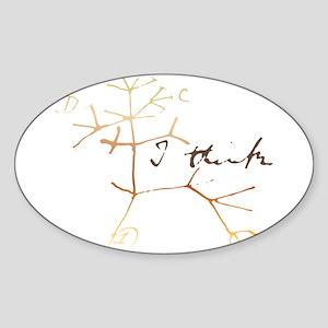Darwins tree of life: I think Sticker