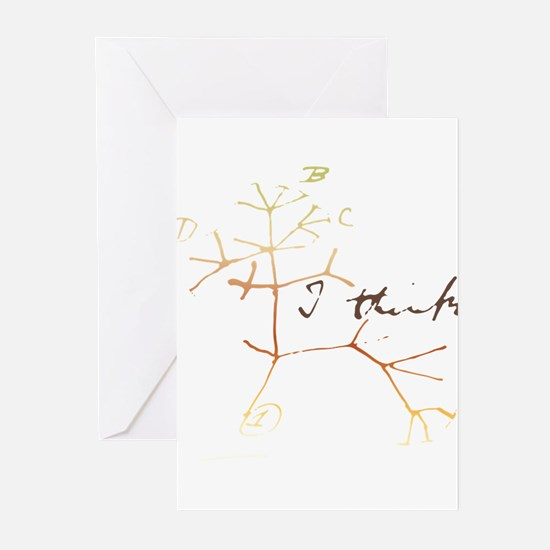 Darwins tree of life: I think Greeting Cards
