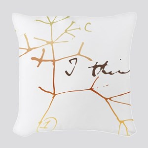 Darwins tree of life: I think Woven Throw Pillow