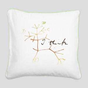 Darwins tree of life: I think Square Canvas Pillow