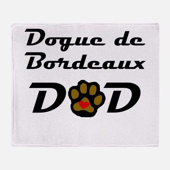 Dogue de Bordeaux Dad Throw Blanket