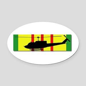 Vietnam - Aviation - Air Assault Oval Car Magnet