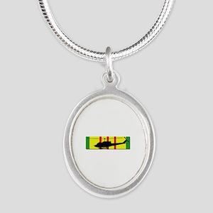 Vietnam - Aviation - Air Assa Silver Oval Necklace