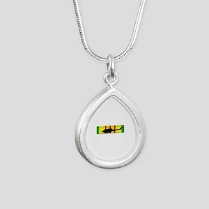Vietnam - Aviation - Air Silver Teardrop Necklace