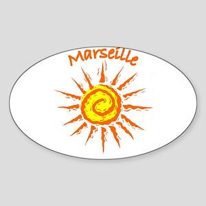 Marseille, France Oval Sticker