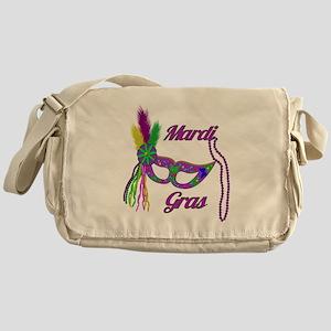 Mardi Gras Beads Mask Messenger Bag