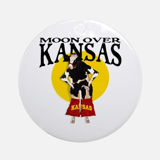 Moon Over Kansas! Ornament (Round)