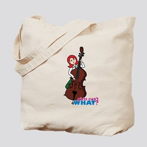 String Bass Player - Light/Red Tote Bag