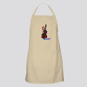 String Bass Player - Light/Red Apron