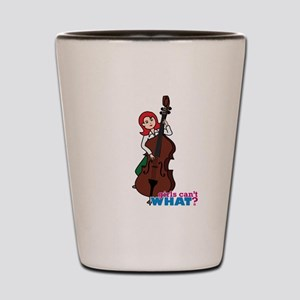 String Bass Player - Light/Red Shot Glass
