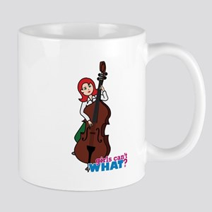String Bass Player - Light/Red Mug