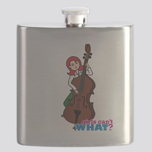 String Bass Player - Light/Red Flask