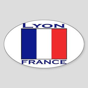 Lyon, France Oval Sticker