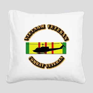Vietnam - AVN - Air Assault Square Canvas Pillow