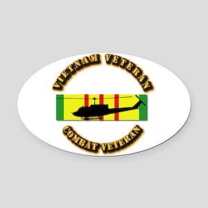 Vietnam - AVN - Air Assault Oval Car Magnet