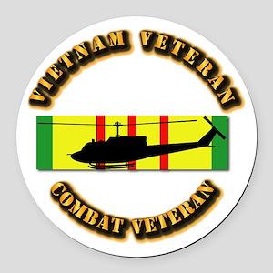 Vietnam - AVN - Air Assault Round Car Magnet