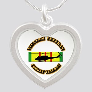 Vietnam - AVN - Air Assault Silver Heart Necklace