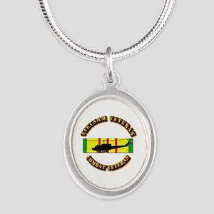 Vietnam - AVN - Air Assault Silver Oval Necklace