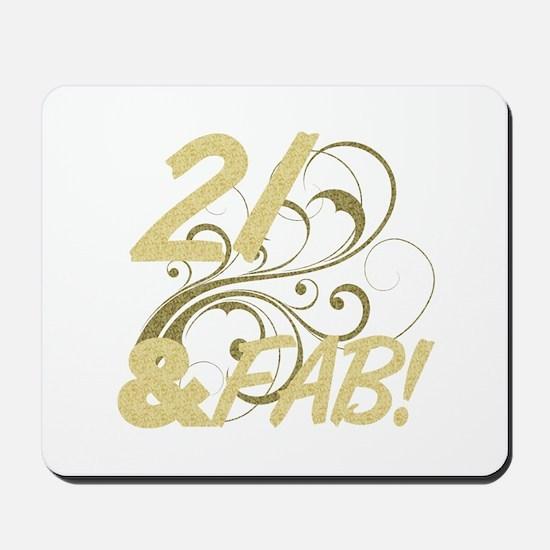 21 And Fabulous (Glitter) Mousepad
