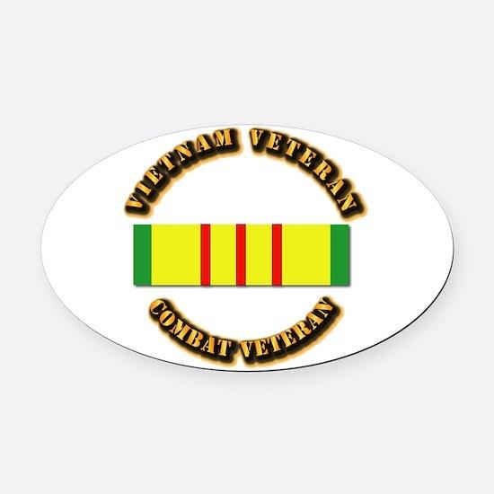Vietnam Veteran - Service Medal Oval Car Magnet