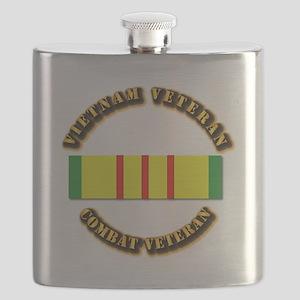 Vietnam Veteran - Service Medal Flask
