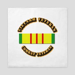 Vietnam Veteran - Service Medal Queen Duvet