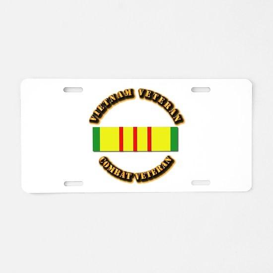 Vietnam Veteran - Service M Aluminum License Plate