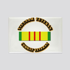 Vietnam Veteran - Service Medal Rectangle Magnet
