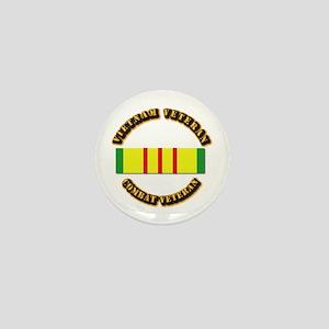 Vietnam Veteran - Service Medal Mini Button