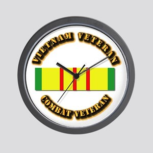 Vietnam Veteran - Service Medal Wall Clock