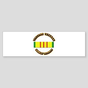 Vietnam Veteran - Service Medal Sticker (Bumper)