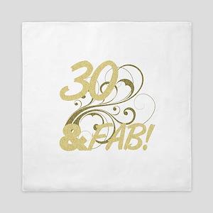 30 And Fabulous (Glitter) Queen Duvet