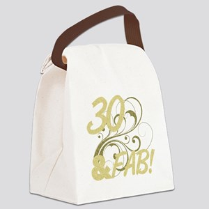 30 And Fabulous (Glitter) Canvas Lunch Bag