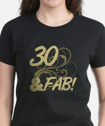30 And Fabulous (Glitter) Women's Dark T-Shirt
