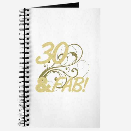 30 And Fabulous (Glitter) Journal