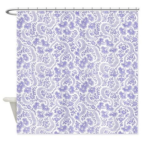 purple vintage floral shower curtain by cheriverymery. Black Bedroom Furniture Sets. Home Design Ideas