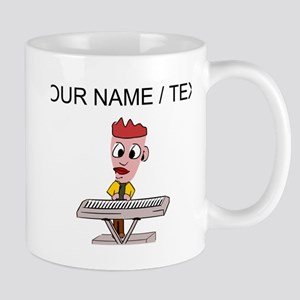 Custom Cartoon Keyboard Player Mugs