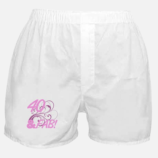40 And Fabulous (Glitter) Boxer Shorts