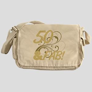50 And Fabulous (Glitter) Messenger Bag