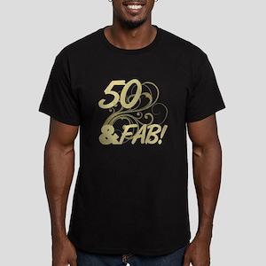 50 And Fabulous (Glitt Men's Fitted T-Shirt (dark)