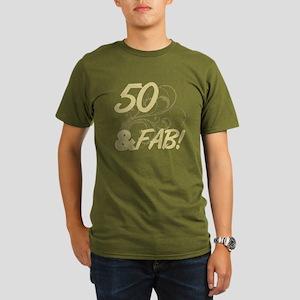 50 And Fabulous Glit Organic Mens T Shirt Dark