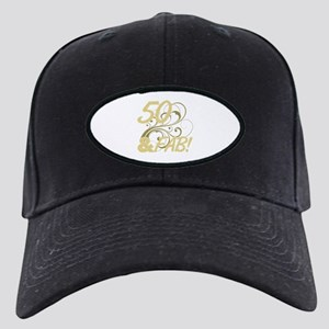 50 And Fabulous (Glitter) Black Cap