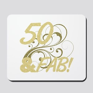 50 And Fabulous (Glitter) Mousepad